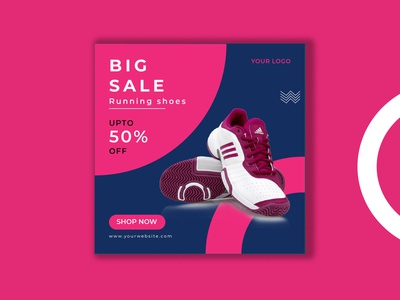 Shoes Sale Post Web Banner Design promotion product online offer new sale multiple colors marketing home eps e-commerce discount design collection clean campaign business branding banner advertising ads