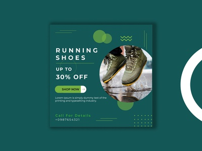 Shoes Sale Post Offer Social Media Banner Design promotion product online offer new sale multiple colors marketing home eps e-commerce discount design collection clean campaign business branding banner advertising ads