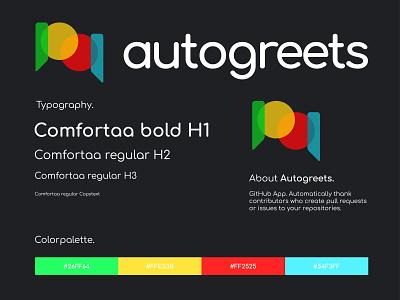 corporate design sheet autogreets app logo design app logo corporate identity corporate branding corporate design logo design concept logo design logodesign logos sans typography branding logo design