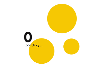 Counter animation color minimal loading site motiongraphics after effects motion design preloader motion motion yellow circles preloader animated counter counter interfacedesign design ui  ux uidesign ui interface