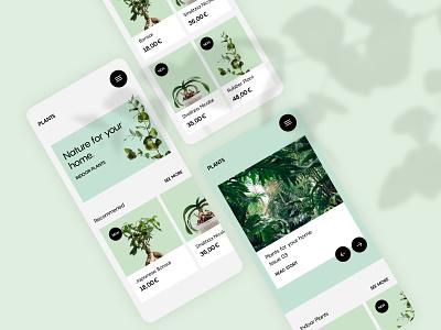 Plants e-commerce ui designer user interface modern minimal minimalism indoor plants plants ui shop online shop shop screendesign ui design plants ui  ux uidesign interface design plant ui plant shop e-commerce ui nature