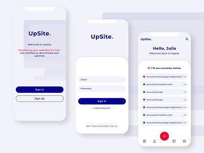 UpSite application design neuland dashboard app dashboard design dashboard sign in signup sites uxui ux design uxdesign uidesign ui  ux ui interface design interfacedesign interface application app design app