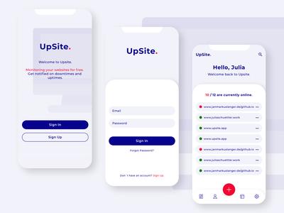 UpSite application design