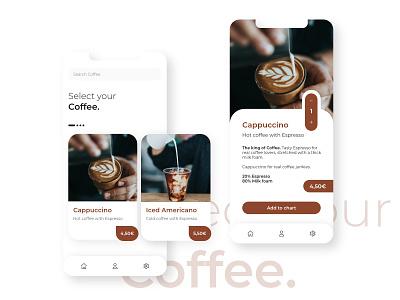 Minimal Coffee UI neuland ux design uxdesign ux design uidesign ui  ux uiux ui interfacedesign interface coffee ui design coffee