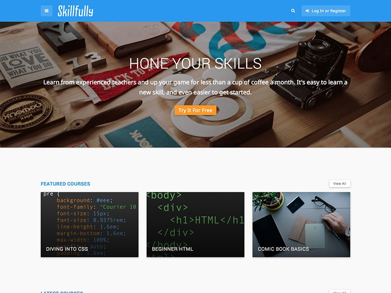 Skillfully theme learning material design wordpress