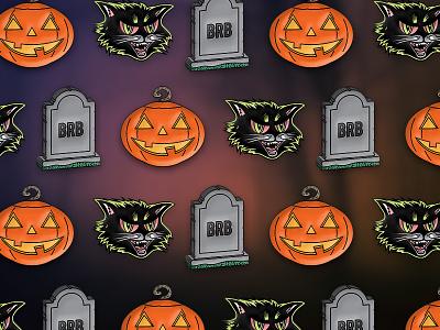 Classic Halloween Pins soft enamel jack o lantern black cat enamel pins kickstarter pumpkins pin enamel gravestone halloween