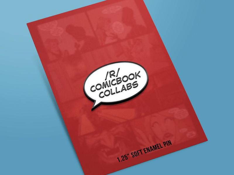Comic Book Collabs Enamel Pin lettering comic books comics enamel pin pin