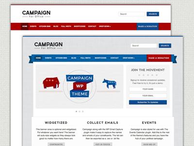 Campaign WordPress Theme campaign political democrat repubilican wordpress