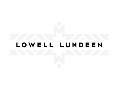 Lowell Lundeen V2 vector typography logo