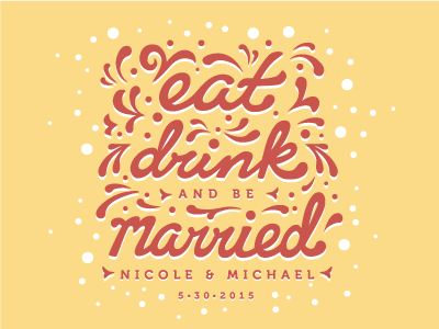 Eat, Drink and be Married: Bridal Shower Wine Labels