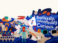 'The Evolution of Curiosity' Packback Mural