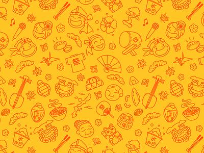 Okinawa Matsuri 2021  - Pattern Illustrations pattern design pattern okinawa japan illustration art vector vector illustration illustrator flat adobe illustrator vector art illustration design