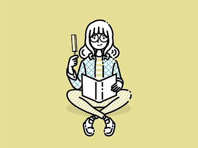 Girl reading a book in summer vector illustration vector art vector illustrator illustration art illustration icon flat design adobe illustrator