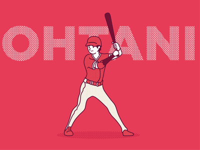 Shohei Ohtani vector illustration illustrator vector art vector illustration design flat mlb angels baseball ohtani adobe illustrator
