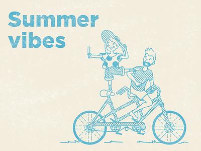 Summer vibes vector illustration vintage design grunge font grunge vector art design vintage vector illustrator illustration flat adobe illustrator