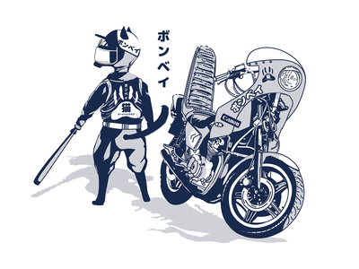 Bombay Motorcycle Cat