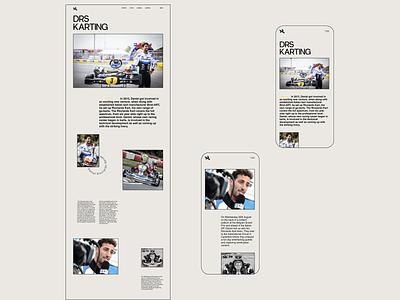 Daniel Ricciardo (website 2020) formula1 daniel ricciardo ux ui racing website design web design ux design ui design typogaphy ux  ui
