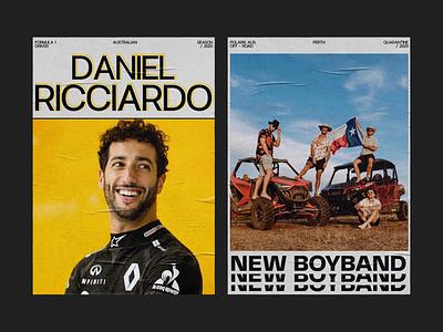 Daniel Ricciardo (posters) graphic design poster daniel ricciardo redesign website design web design ux  ui ux design ui design typogaphy racing