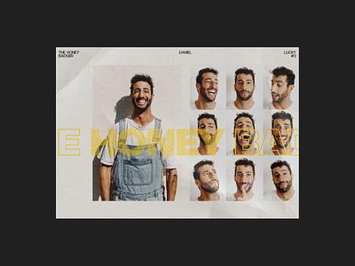 Daniel Ricciardo (poster) graphic design daniel ricciardo redesign website design web design ux  ui ux design ui design typogaphy racing