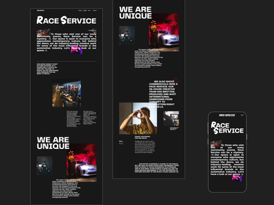 Race Service formula1 daniel ricciardo redesign website design web design ux  ui ux design ui design typogaphy racing