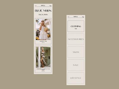 Spell mobile online store e-shop e-commerce redesign website design web design ux  ui ux design ui design typogaphy