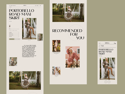 Spell online store e-commerce redesign website design web design ux  ui ux design ui design typogaphy