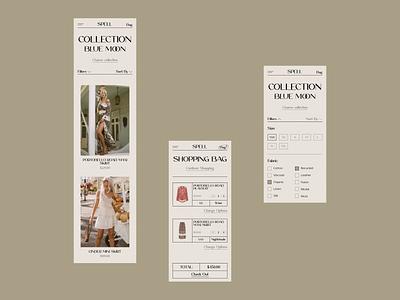 Spell online store e-commerce website design web design ux  ui ux design ui design typogaphy