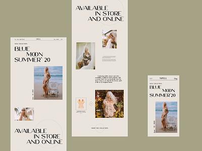 Spell online store e-commerce website design ux  ui web design ux design ui design typogaphy