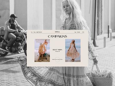 Spell redesign online store e-commerce website design ux  ui web design ux design ui design typogaphy