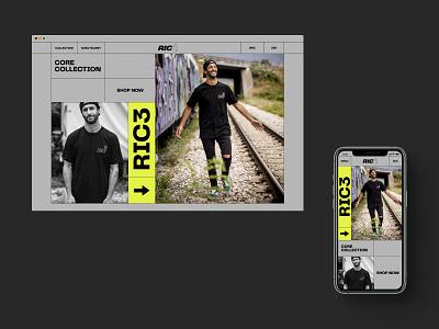RIC3 formula1 e-commerce daniel ricciardo racing website design web design ux  ui ux design ui design typogaphy