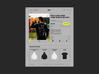 RIC3 formula1 online store e-commerce daniel ricciardo website design web design ux  ui ux design ui design typogaphy