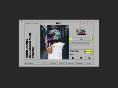 RIC3 formula1 online store e-commerce daniel ricciardo website design web design ux  ui ux design ui design