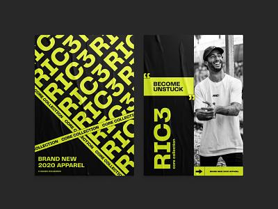 RIC3 daniel ricciardo graphic design web design ui design typogaphy