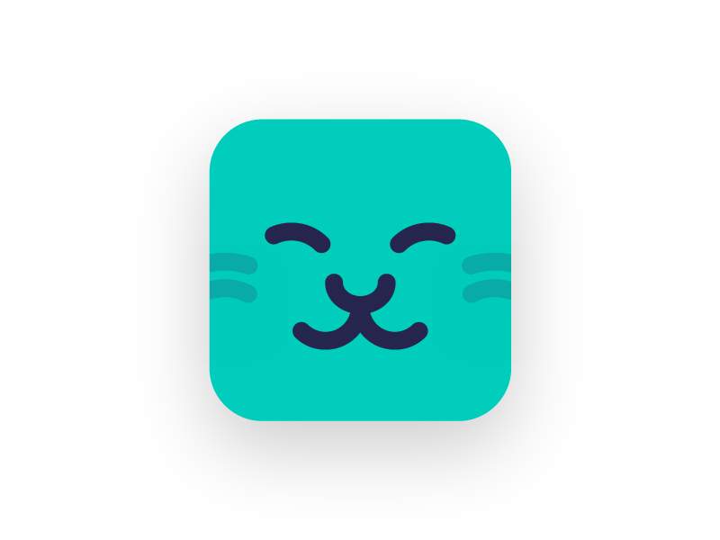 Strokecat Icon Concept 2 ios app icon chinese character dictionary icon cat vector