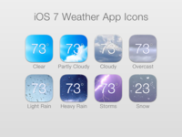iOS 7 Weather App Icons