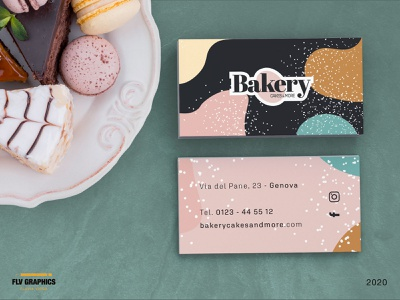 Bakery, cakes&more | Business card. brandidentity cake logo cakes cake cake shop bakerylogo bakery business card businesscard logos logotype mockup brand identity branding brand design design logo design brand logodesign logo