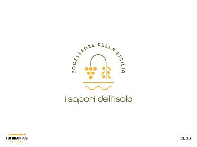 I sapori dell'isola - Logo food logo food sicily logo sicily olive logo olive grapeslogo grapes daily logo challenge logotype brand identity dailylogo brand design design logo design brand logodesign logo