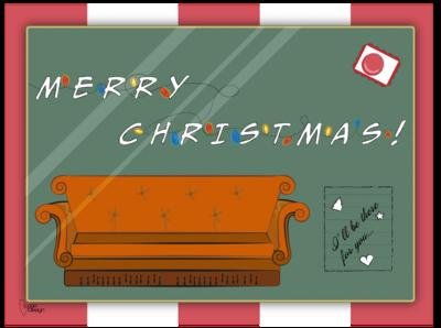 Christmas postcard | F.R.I.E.N.D.S weeklywarmup tv show fiction friends christmas cards postcard christmas illustration illustration christmas card christmas dribbble dribbbleweeklywarmup