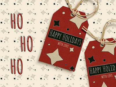 Holiday Gift Tag | dribbbleweeklywarmup stars christmas pattern pattern tag design tag holidays christmas illustration illustration christmas gift christmas tag christmas holiday gift holiday weekly warm-up weeklywarmup dribbbleweeklywarmup dribbble