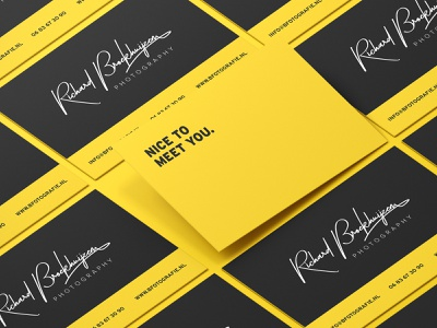 Brand Identity for Richard Broekhuijzen Fotografie brand book business card mockup design logo design social media templates letterhead business card brand identity design brand design branding brand identity