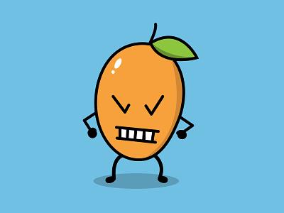 Angry Mango fruit illustration angry mango