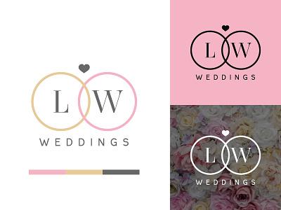 Logo design for a wedding planner elegant classy grey gold pink brand identity brand design branding wedding planner wedding logo design logo