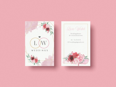 Business card design for a wedding planner branding illustration design logo logo design floral design floral elegant wedding planner wedding business card design business card