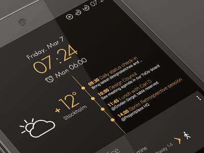 Android Homescreen - Holo UI