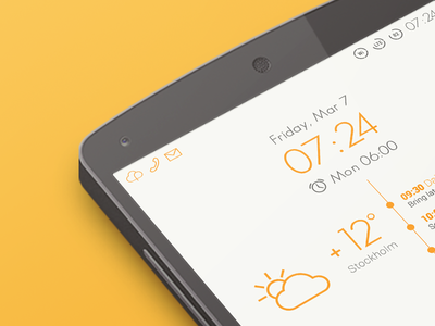 Android Homescreen - Holo UI Light