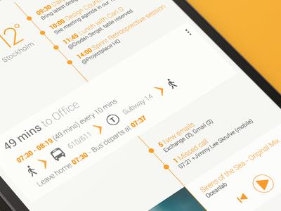 Android Homescreen - Holo UI Light Part 2 android homescreen nexus5 holo flat gui light orange minimalistic mobile