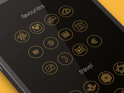 Nexus OutlinedX Icons Part 1 nexus outlined icons android minimalistic flat mobile ui dark