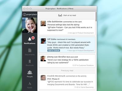 OS X Desktop App - Notifications View - Part 1 os x desktop app notifications ui ux