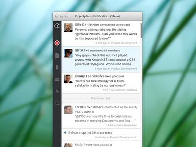 OS X Desktop App - Notifications View - Part 2 os x desktop app notifications ui ux