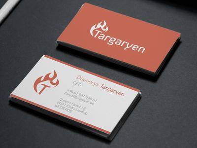 Daenerys Targaryen - Business card (rebranded house)